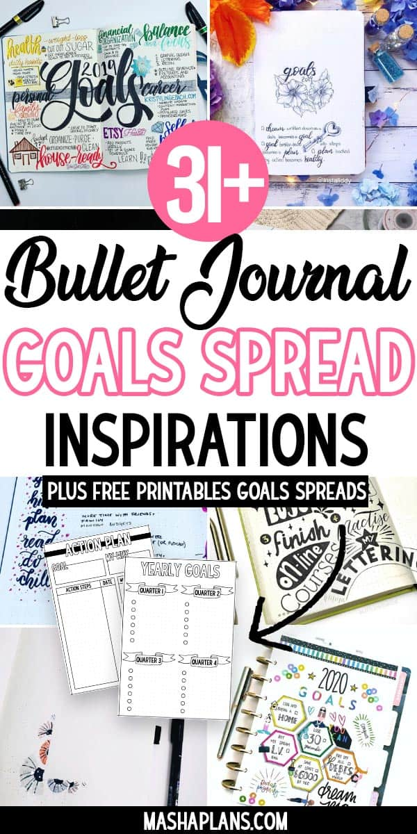 How To Set Goals In Your Bullet Journal | Masha Plans
