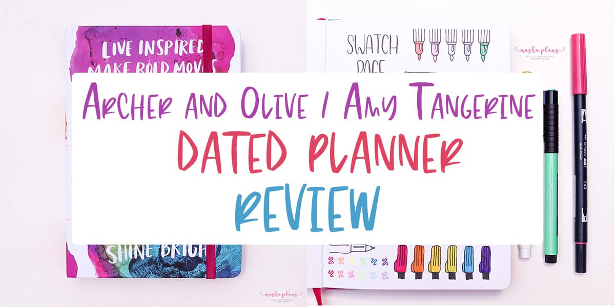 Archer and Olive and Amy Tangerine Planner | Masha Plans