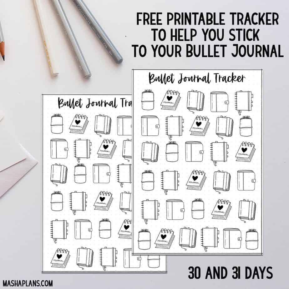 9 Easy Techniques To Make Your Bullet Journal Habit Stick | Masha Plans