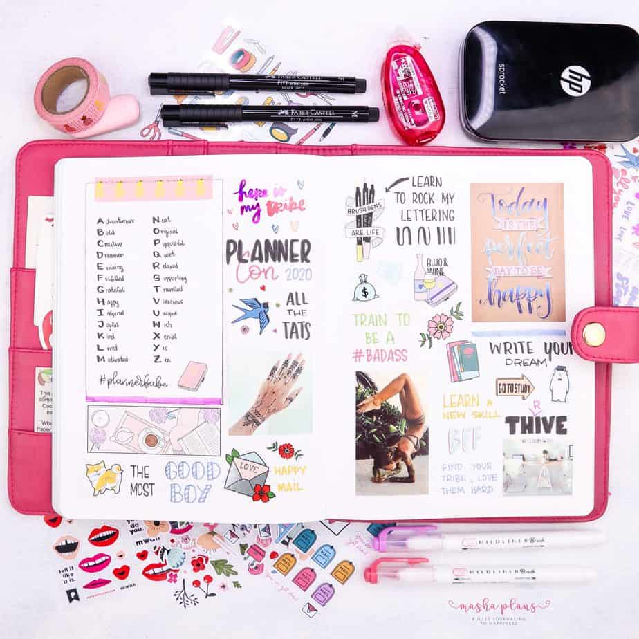 How To Create Bullet Journal Vision Board | Masha Plans