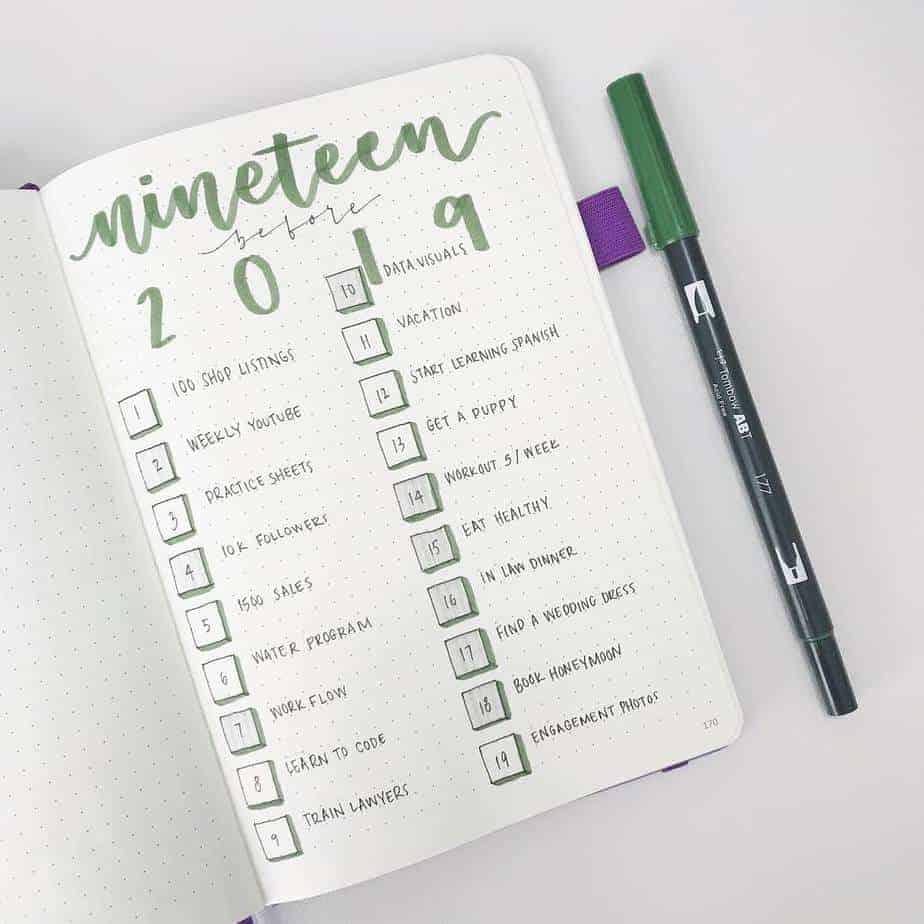 Goals Bullet Journal Spread by @erinflotodesigns | Masha Plans