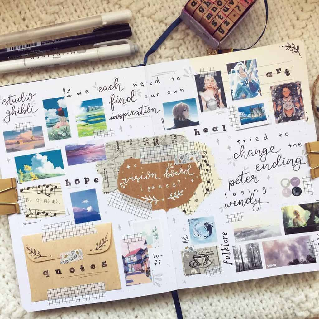 Bullet Journal Vision Board by @lexi.journals | Masha Plans