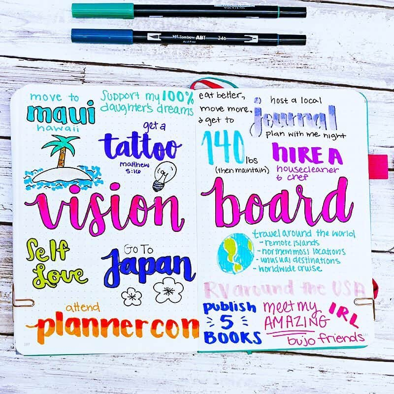 Vision Board by @planningmindfully | Masha Plans