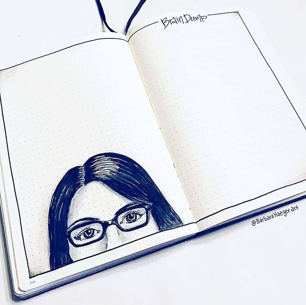 Brain Dump Page In Your Bullet Journal by @barbarahaegerart | Masha Plans