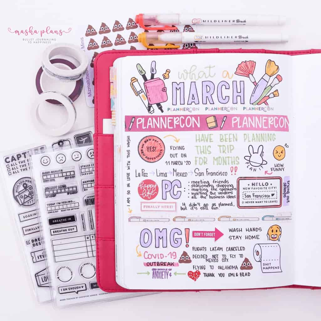 March Memories Page | Masha Plans