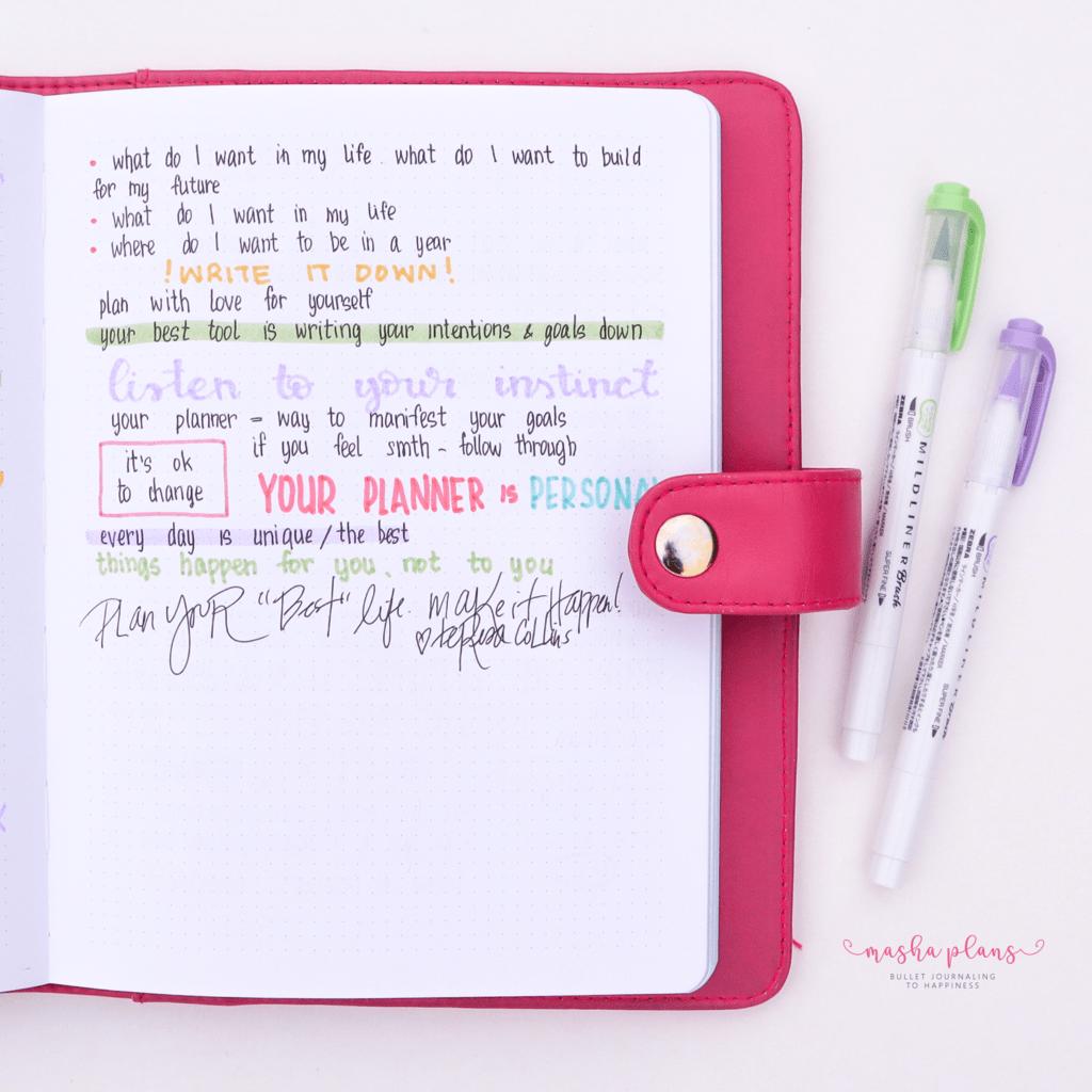 Notes Page   Masha Plans