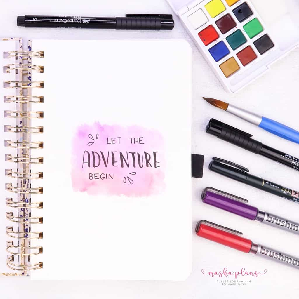 The Archer & Olive Watercolor Dot Grid Notebook Review | Masha Plans