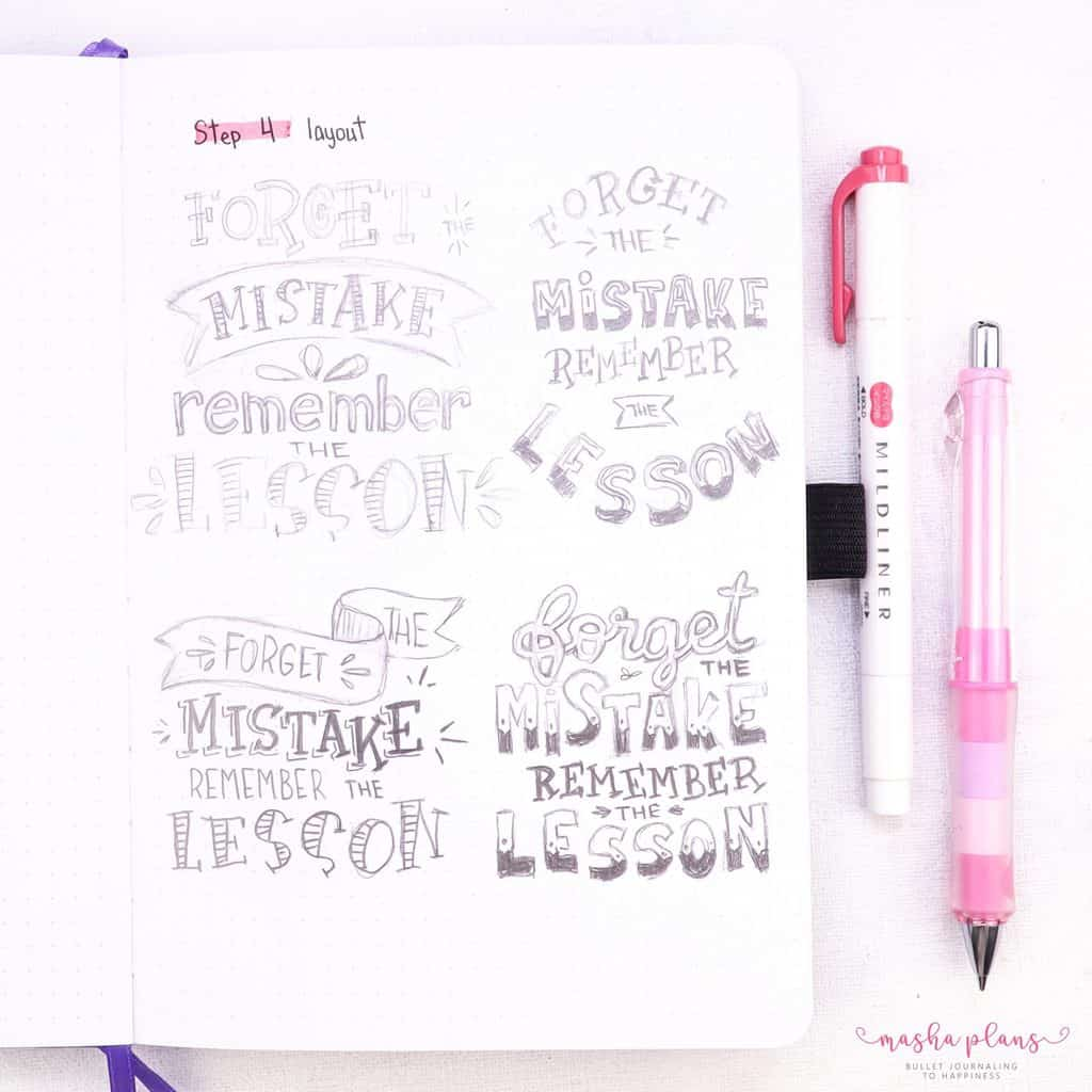 How To Create Inspiring Quote Pages In Your Bullet Journal: Step By Step Guide | Masha Plans
