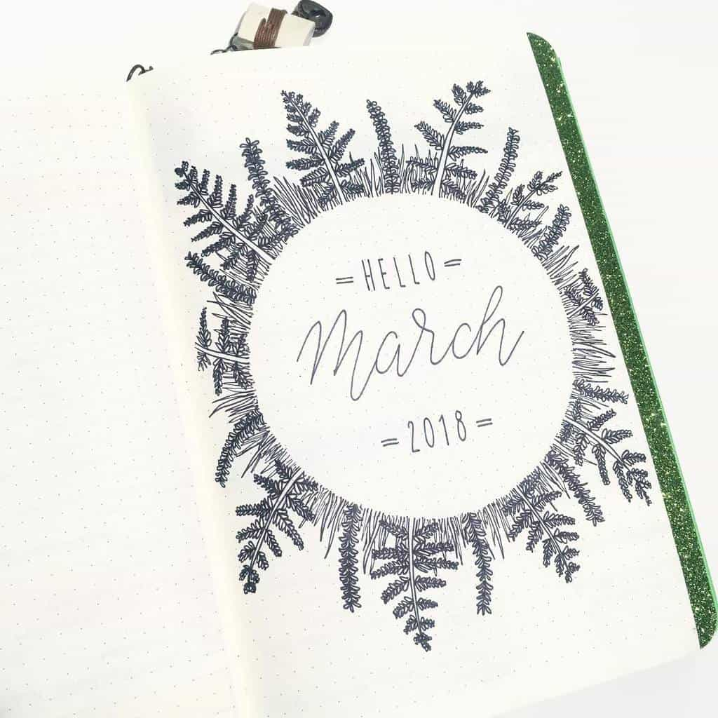 Spring Bullet Journal Theme Ideas - cover page by @jashiicorrin | Masha Plans