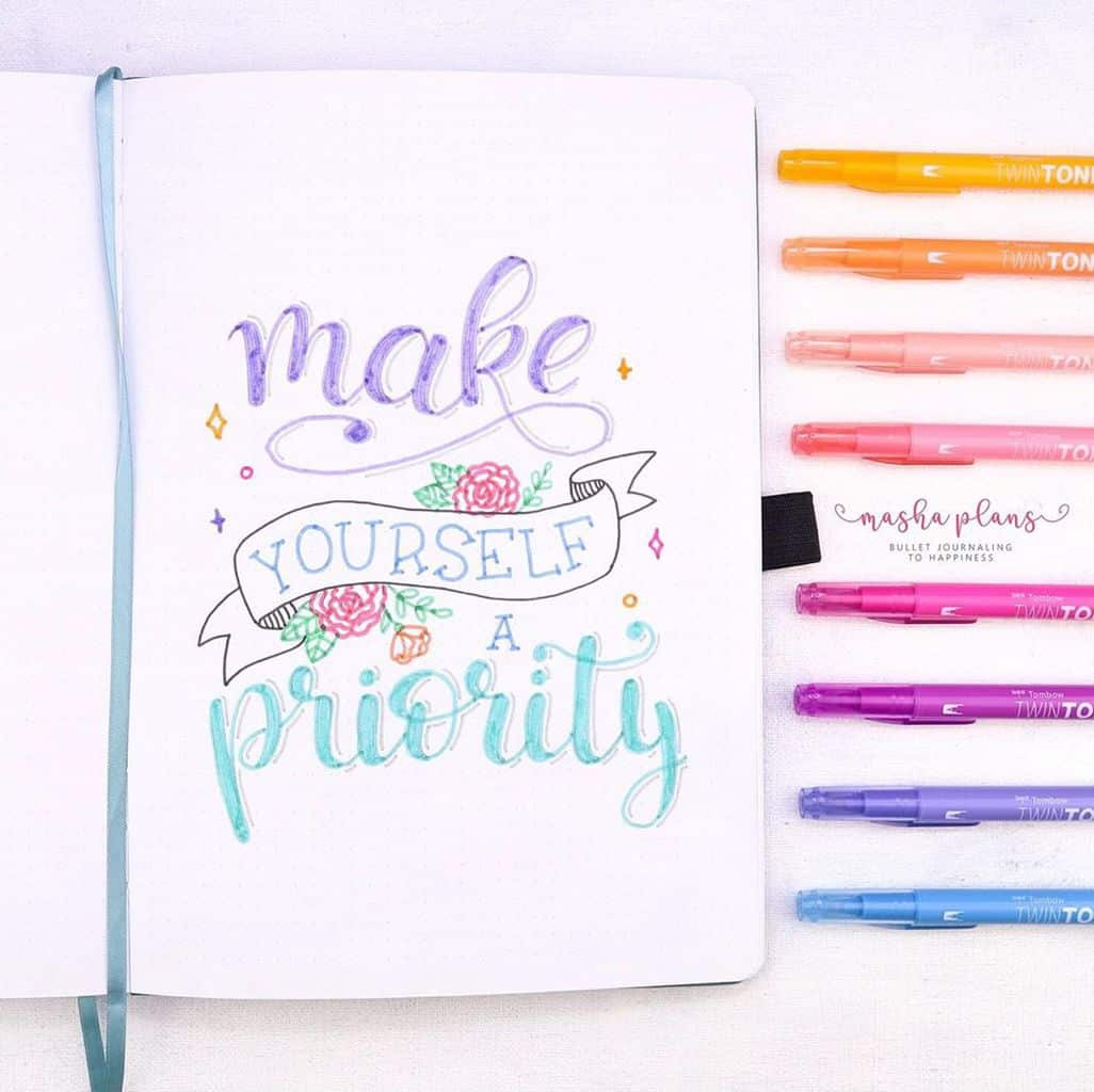 Quote Page in my Bullet Journal | Masha Plans