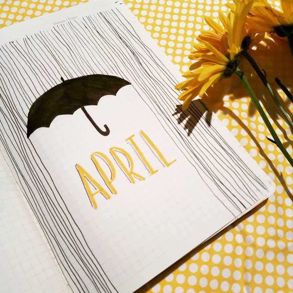 Spring Bullet Journal Theme Ideas - cover page by @shouthuzzahdoodles | Masha Plans