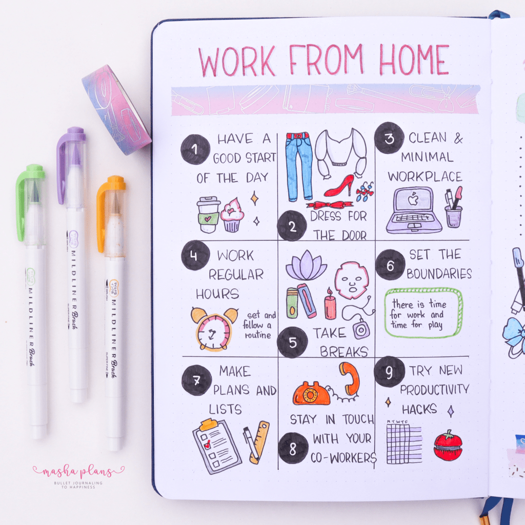 Work From Home Tips | Masha Plans