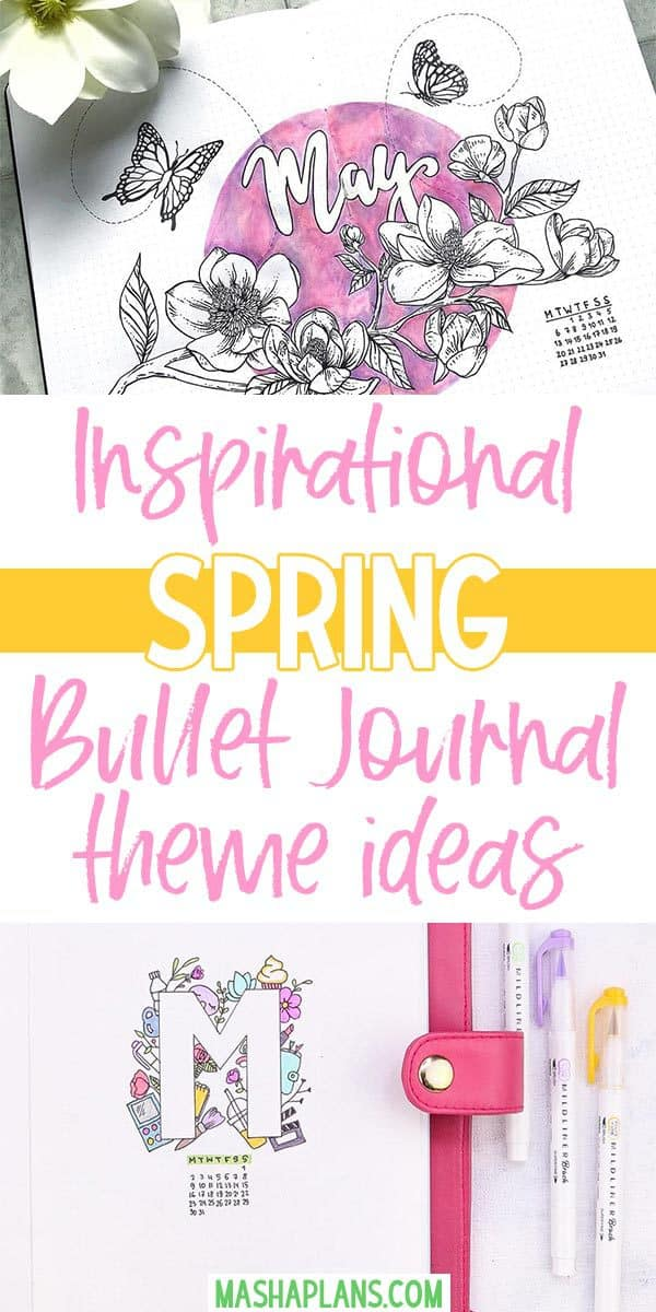 Spring Bullet Journal Theme Ideas | Masha Plans