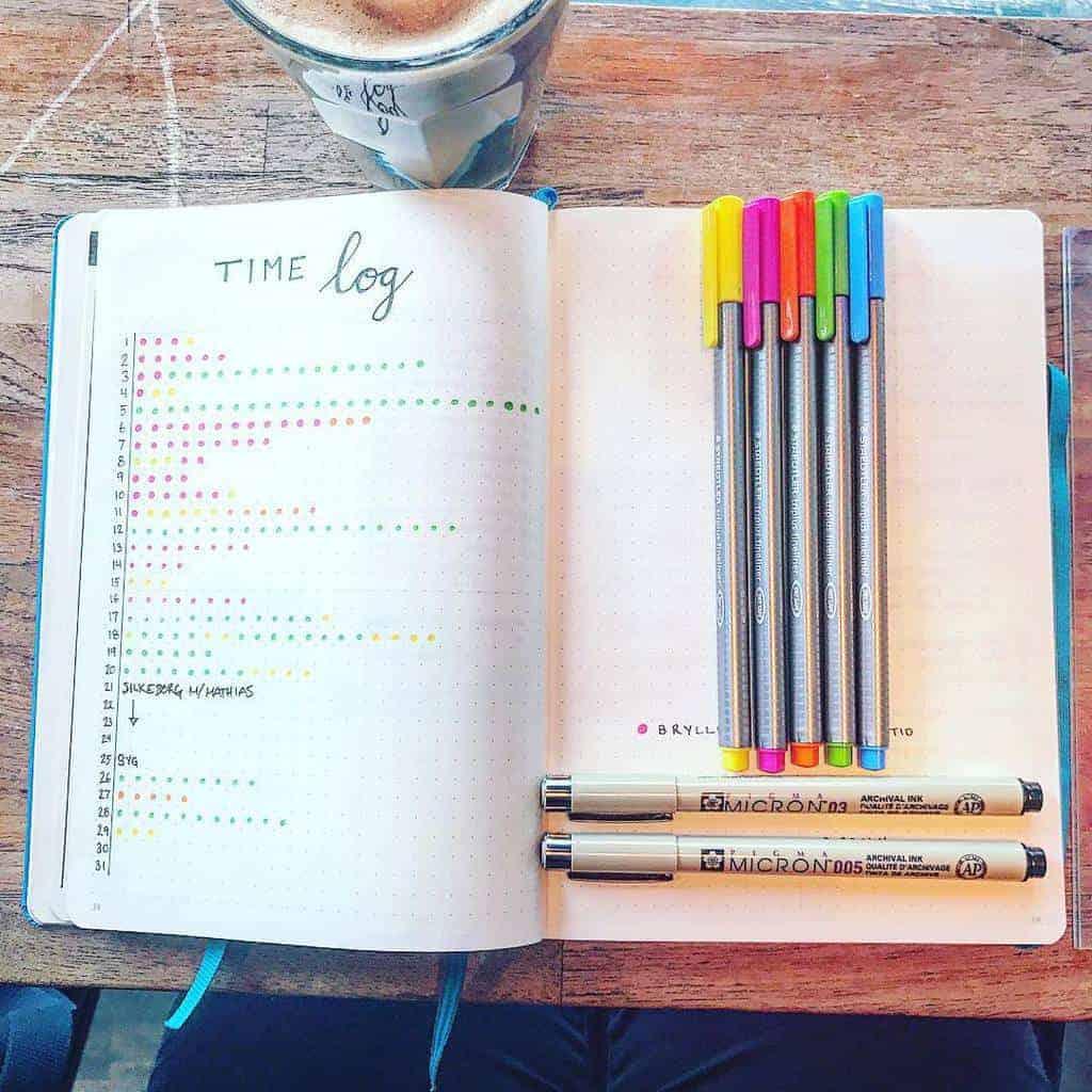 Bullet Journal Time Log by @amanda.veros | Masha Plans