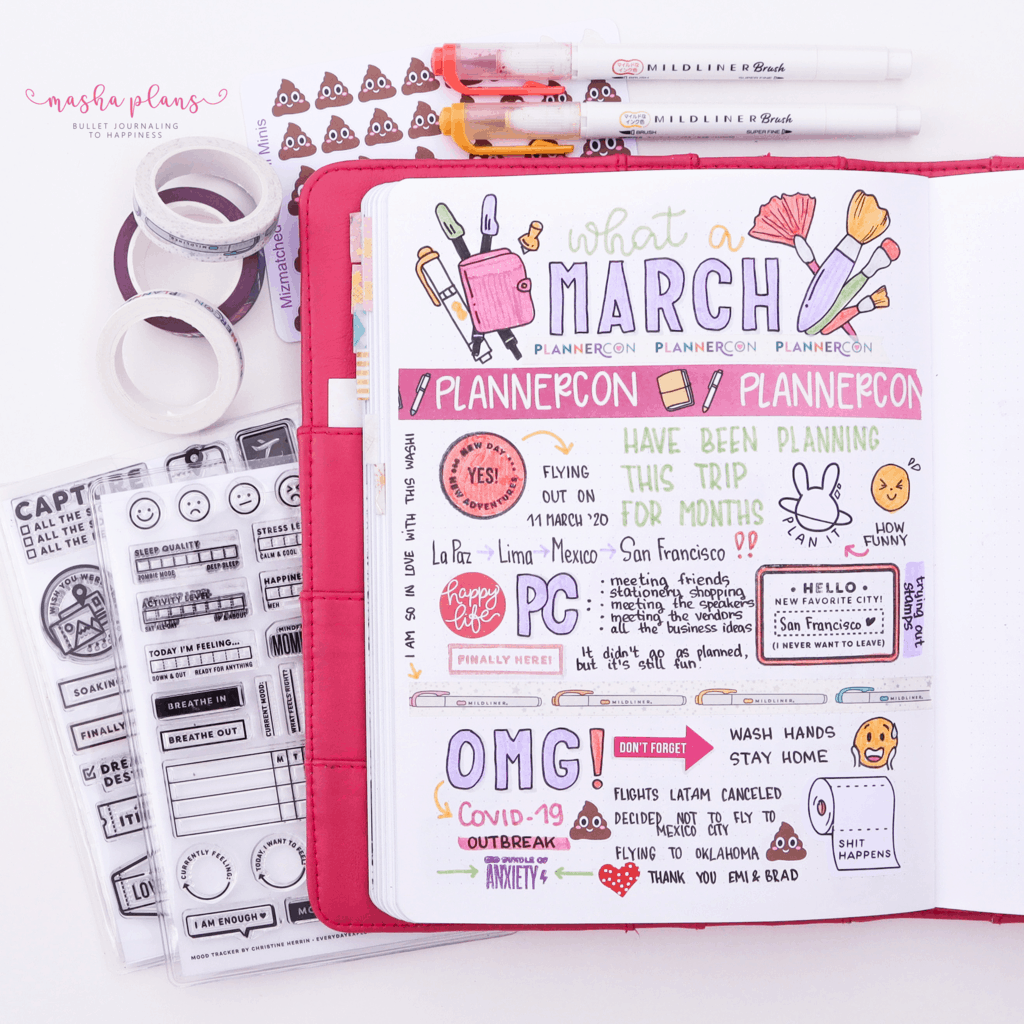 25 Monthly Bullet Journal Page Ideas, memories page | Masha Plans