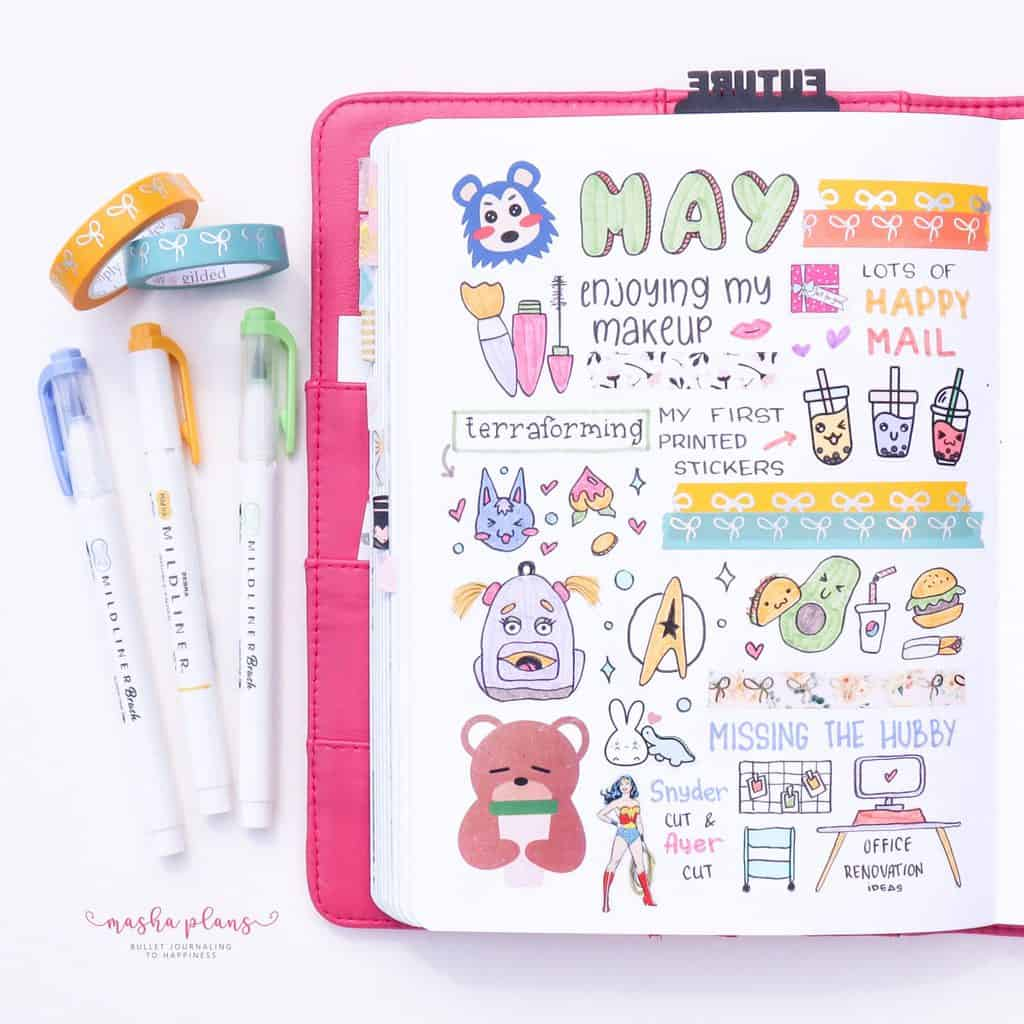 May Memory Page In My Bullet Journal | Masha Plans