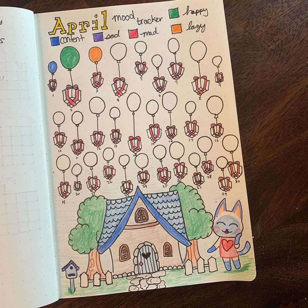 Animal Crossing Bullet Journal Inspirations - mood tracker by @ambiwild | Masha Plans