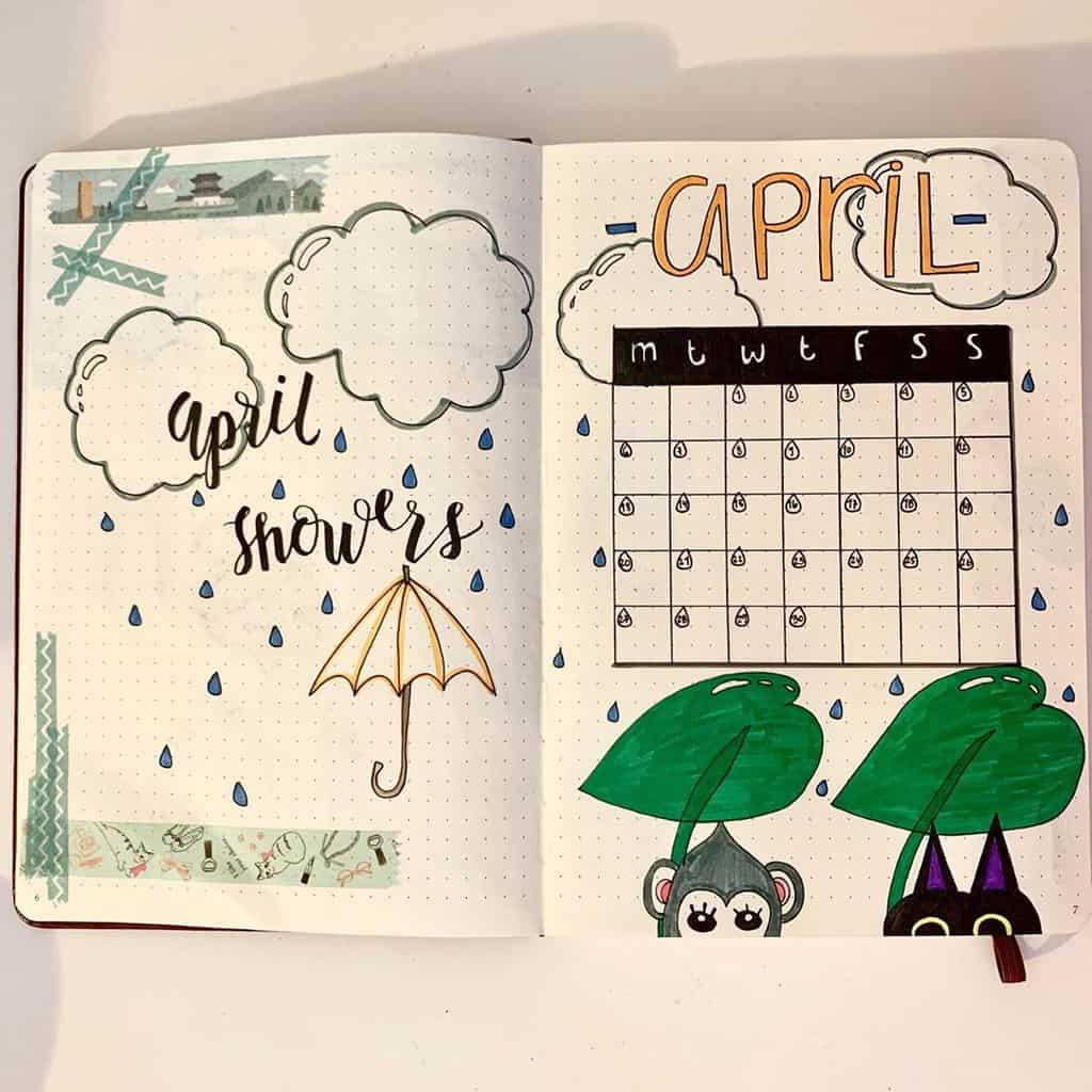 Animal Crossing Bullet Journal Inspirations - monthly log by @bobentto | Masha Plans