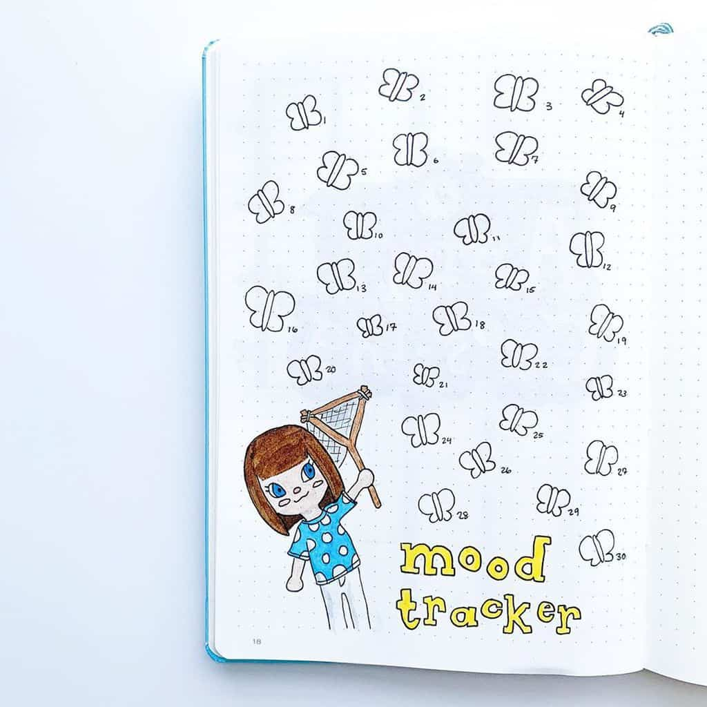 Animal Crossing Bullet Journal Inspirations - mood tracker by @bujo.books | Masha Plans