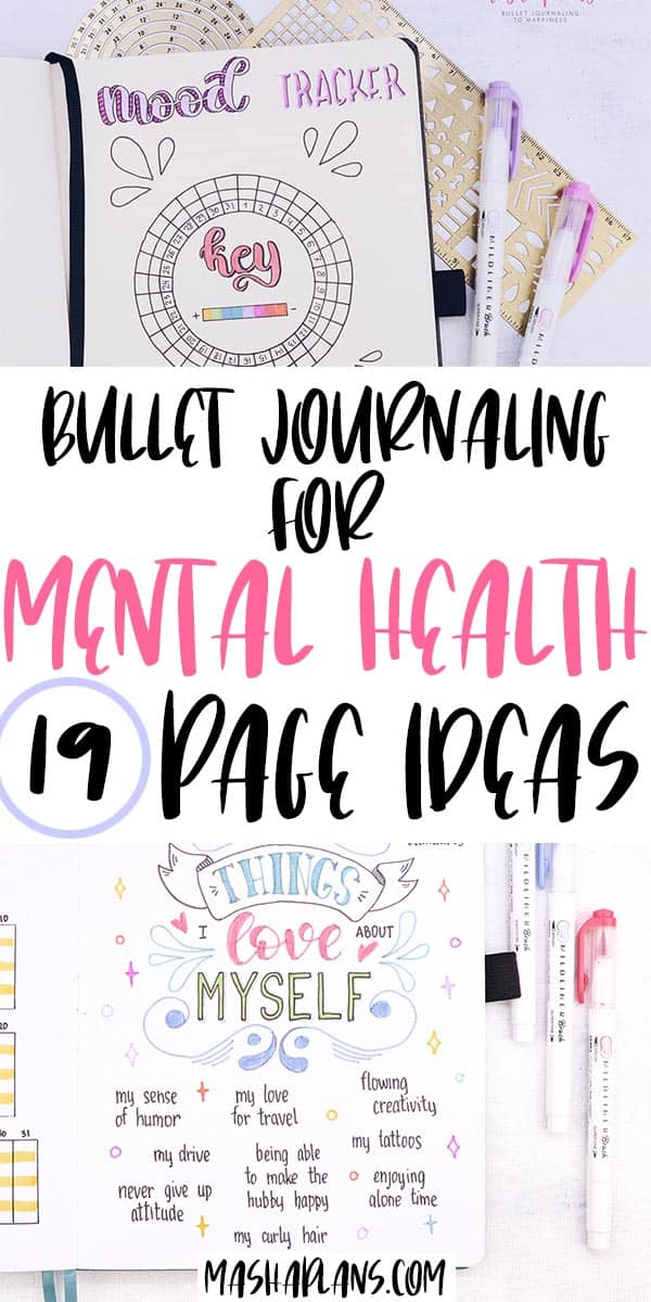 How To Bullet Journal for Mental Health: 19 Page Ideas | Masha Plans