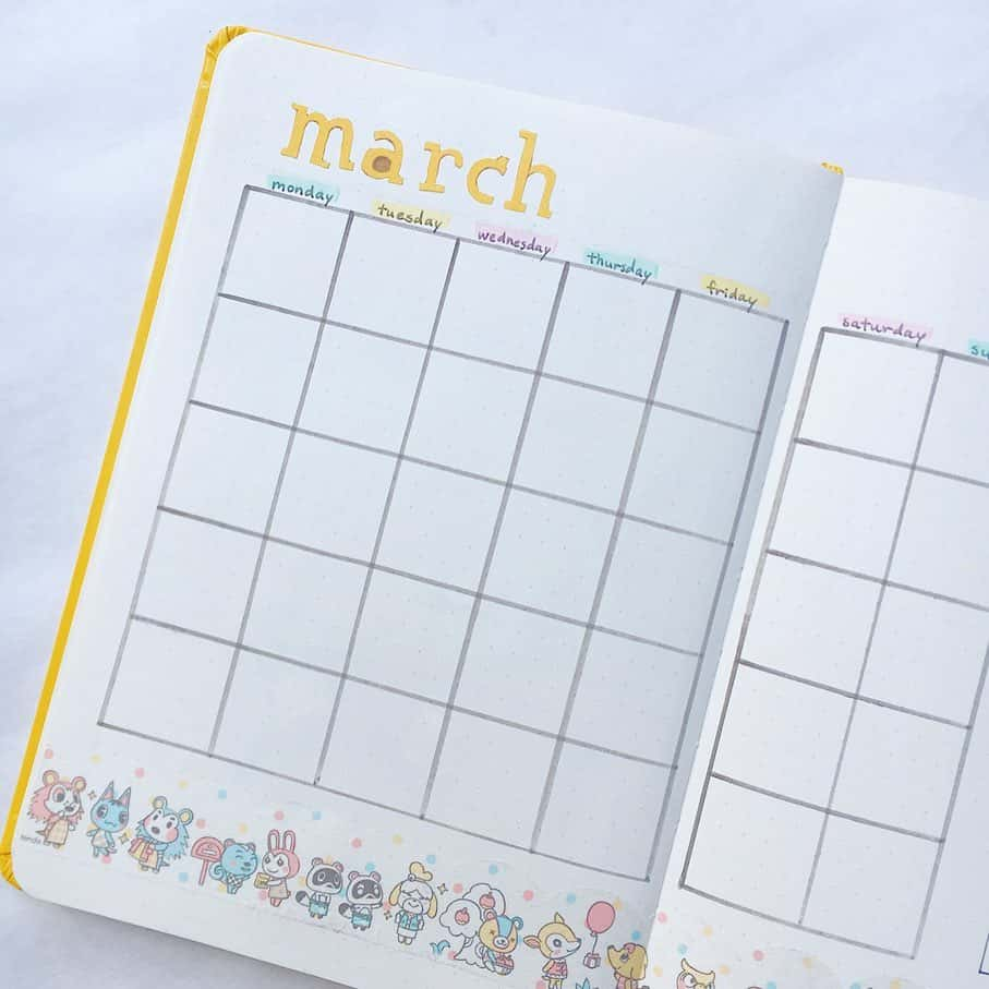 Animal Crossing Bullet Journal Inspirations - monthly log by @claireo.journals | Masha Plans