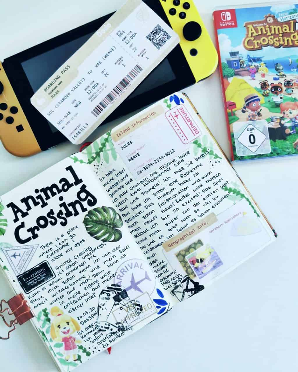Animal Crossing Bullet Journal Inspirations - spread by @jules.art.design | Masha Plans