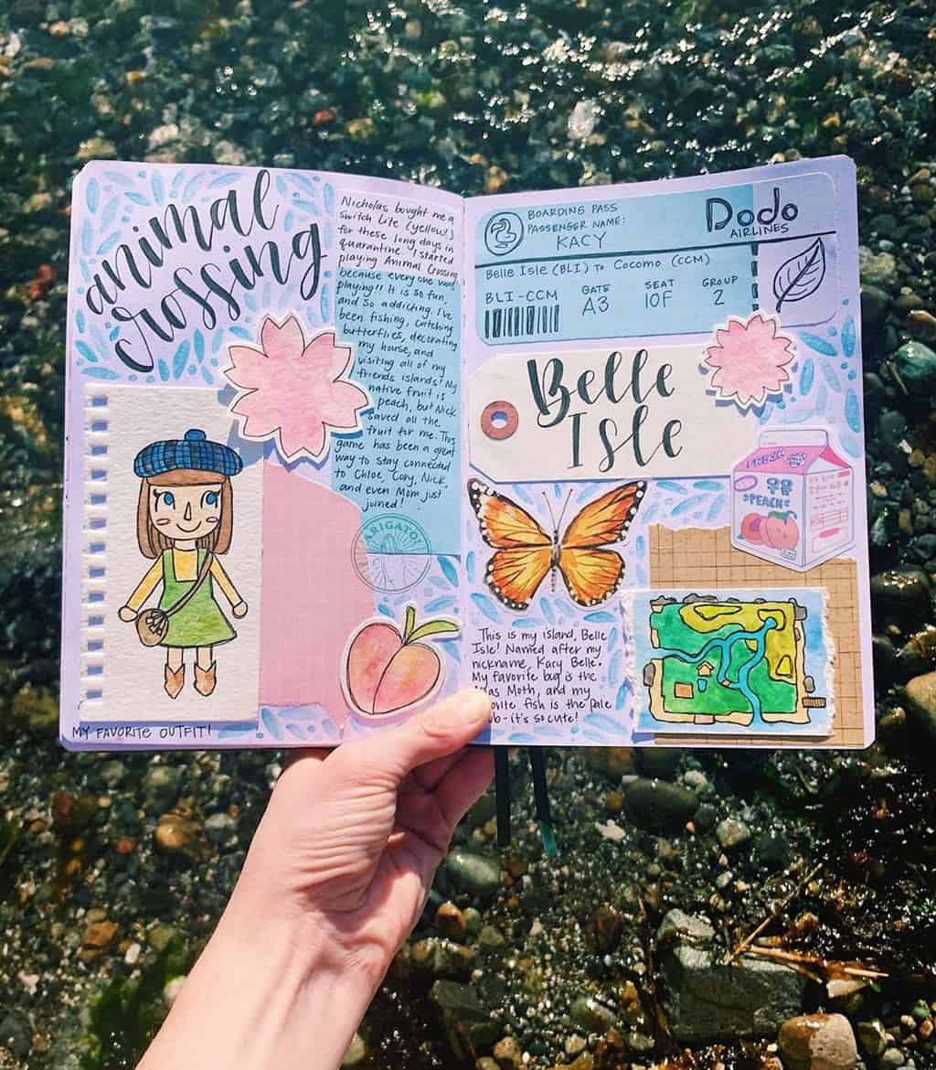 Animal Crossing Bullet Journal Inspirations - spread by @kacy_creates | Masha Plans