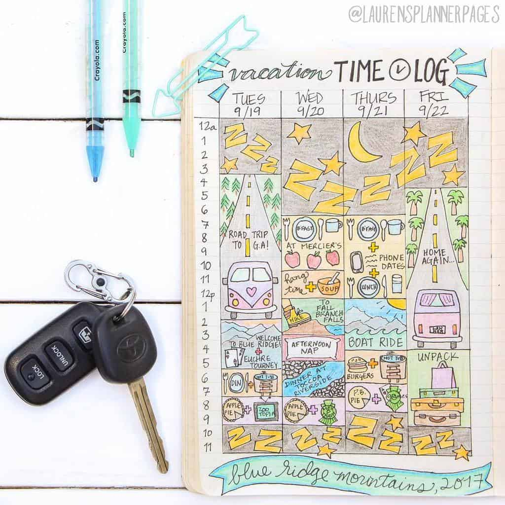 Find Extra Hours In Your Day With A Time Log, spread by @laurensplannerpages | Masha Plans