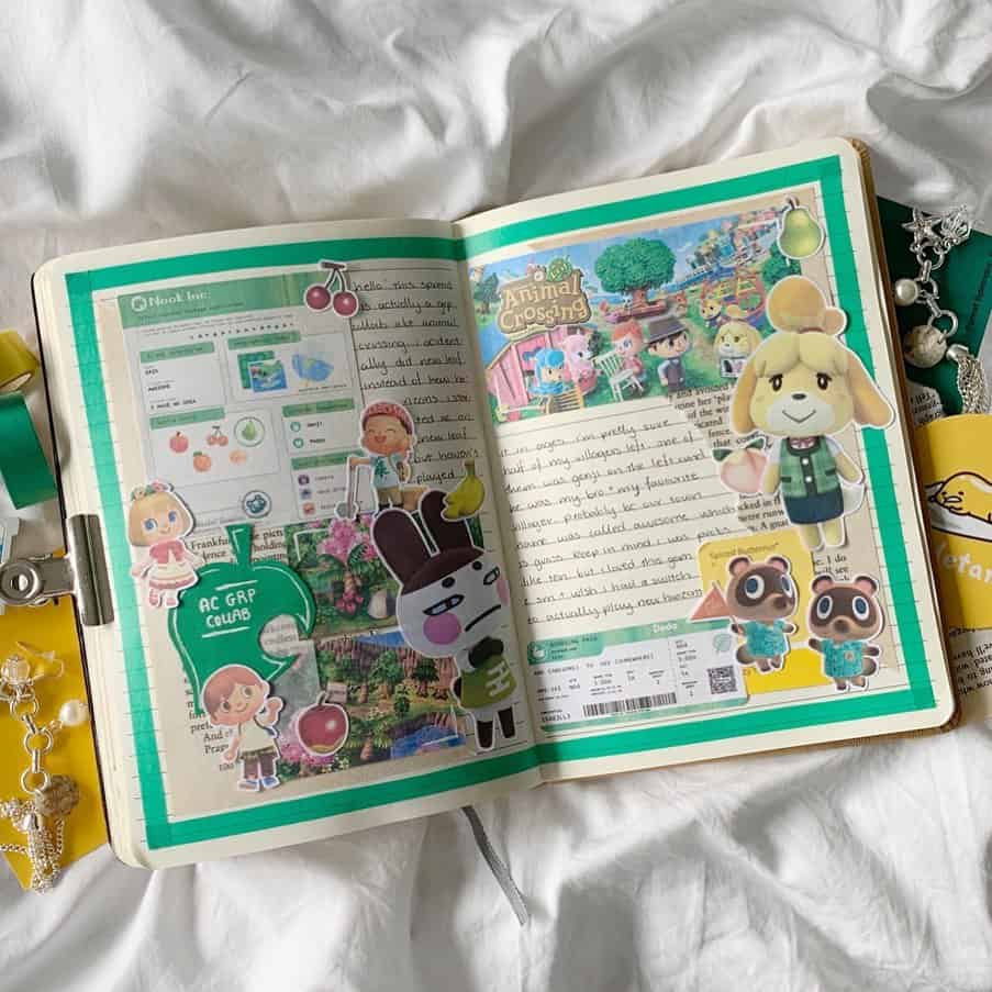 Animal Crossing Bullet Journal Inspirations - spread by @leeknowit | Masha Plans