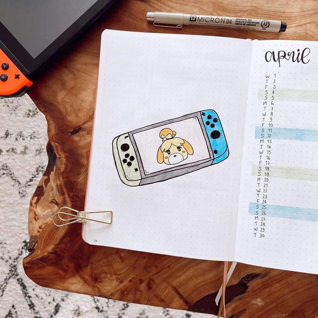 Animal Crossing Bullet Journal Inspirations - cover page by @lelouve | Masha Plans