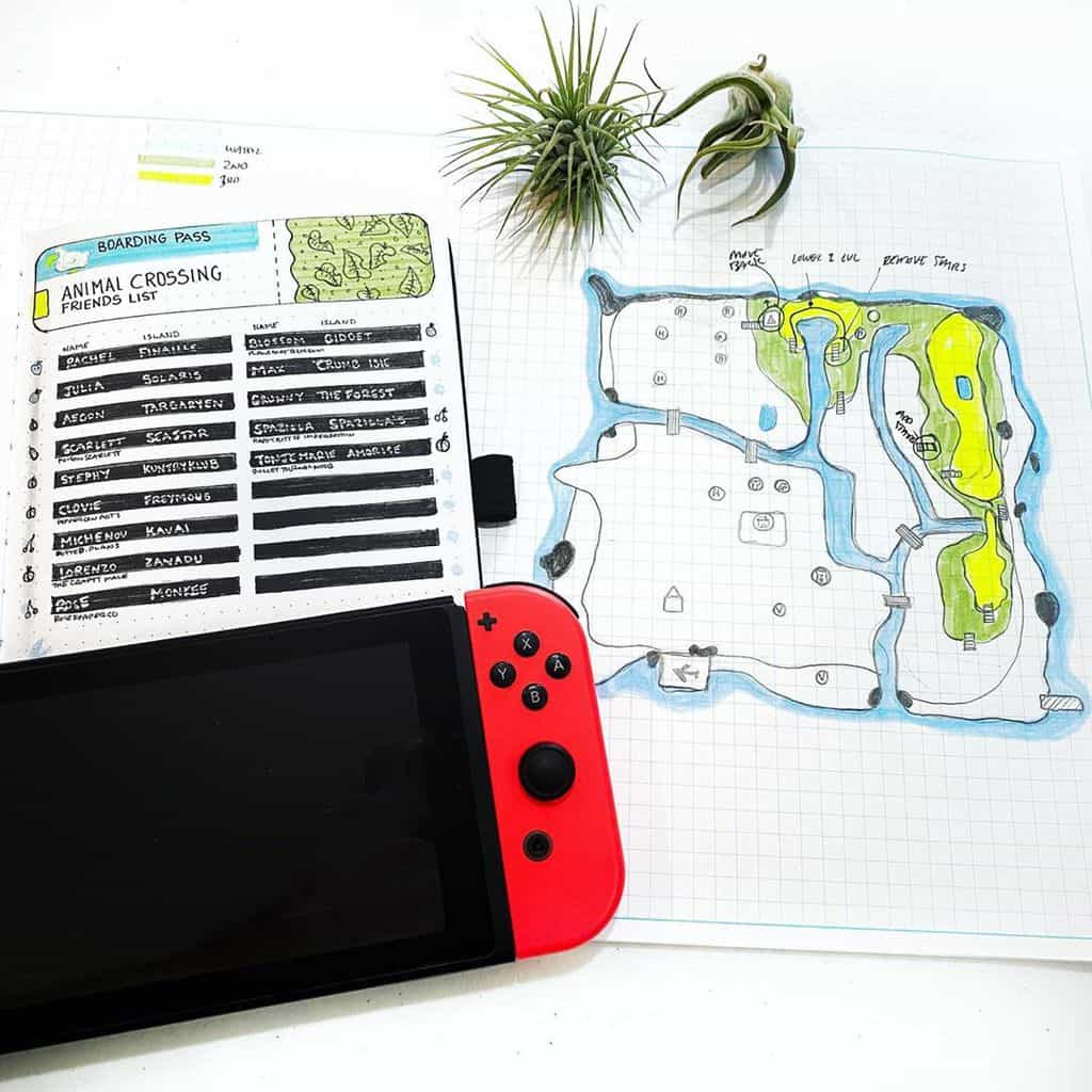 Animal Crossing Bullet Journal Inspirations - spread by @menwhobullet | Masha Plans