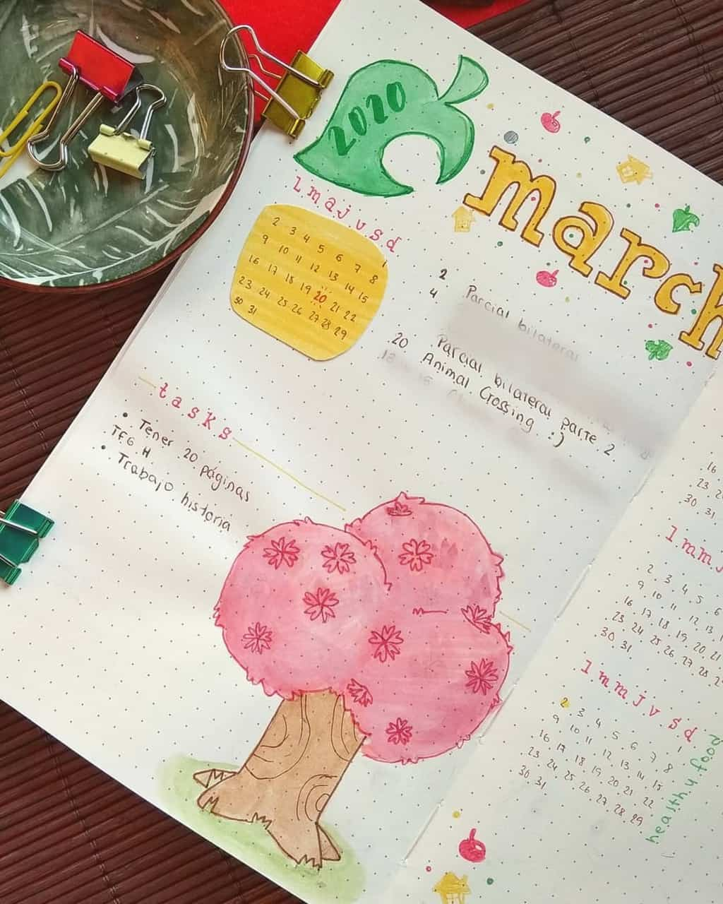 Animal Crossing Bullet Journal Inspirations - monthly log by @_messydesk | Masha Plans