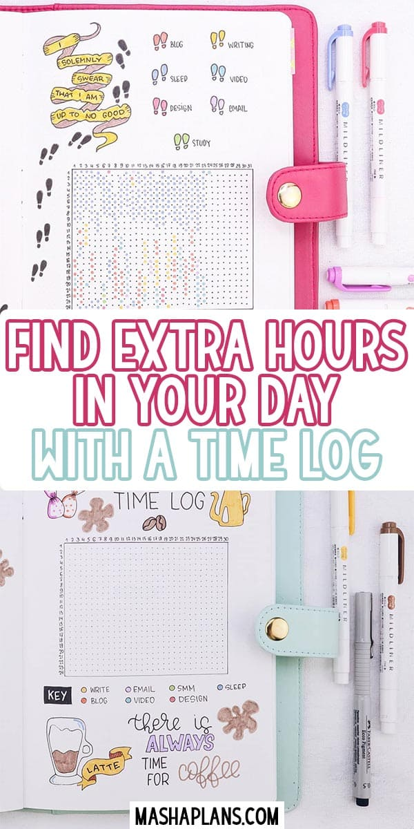 Find Extra Hours In Your Day With A Time Log | Masha Plans