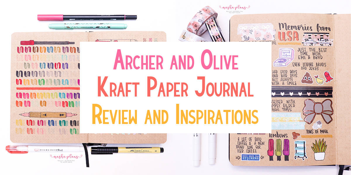 Archer & Olive Kraft Paper Notebook Review and Inspirations | Masha Plans
