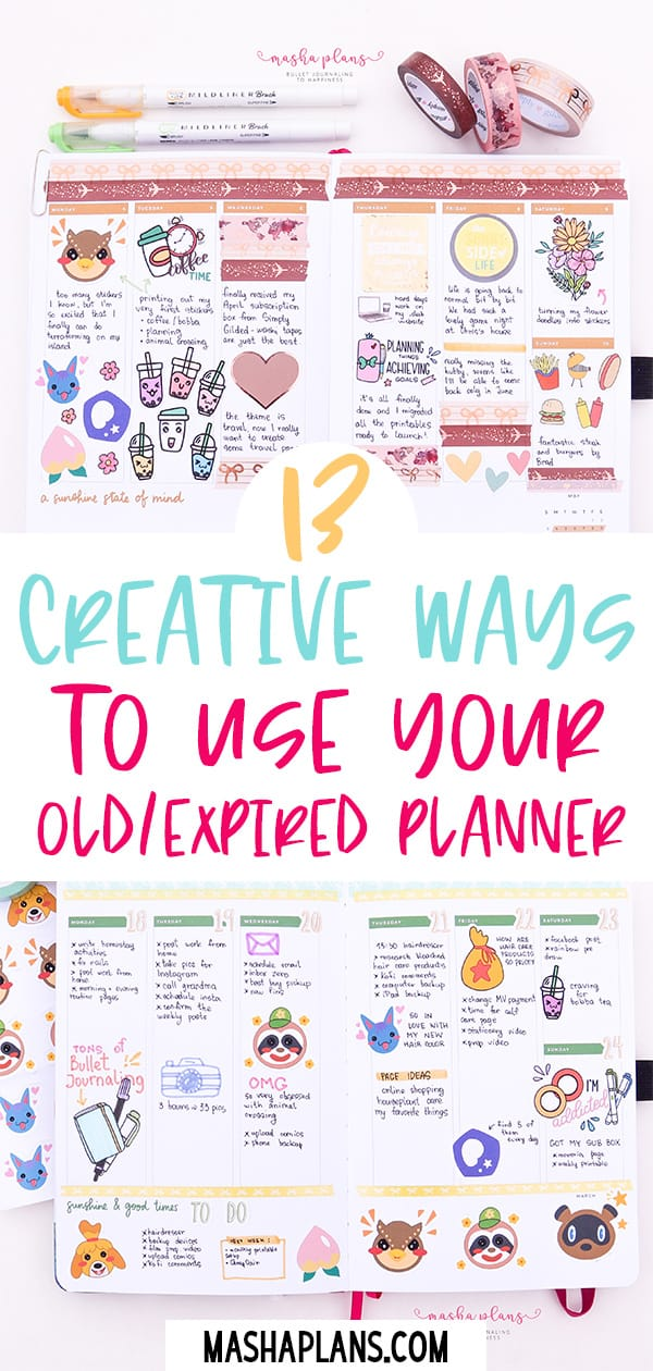 13 Creative Ways To Use Your Old / Expired Planner | Masha Plans