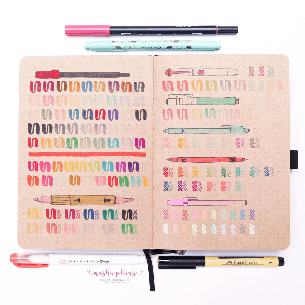 Archer and Olive kraft paper notebook pen test | Masha Plans