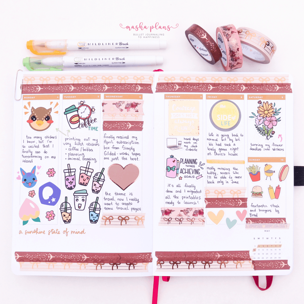 Memories Page in Archer and Olive and Amy Tangerine Planner | Masha Plans
