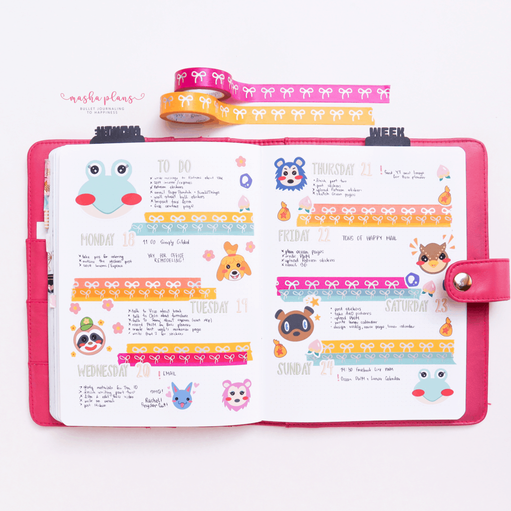 Animal Crossing Weekly with stickers | Masha Plans