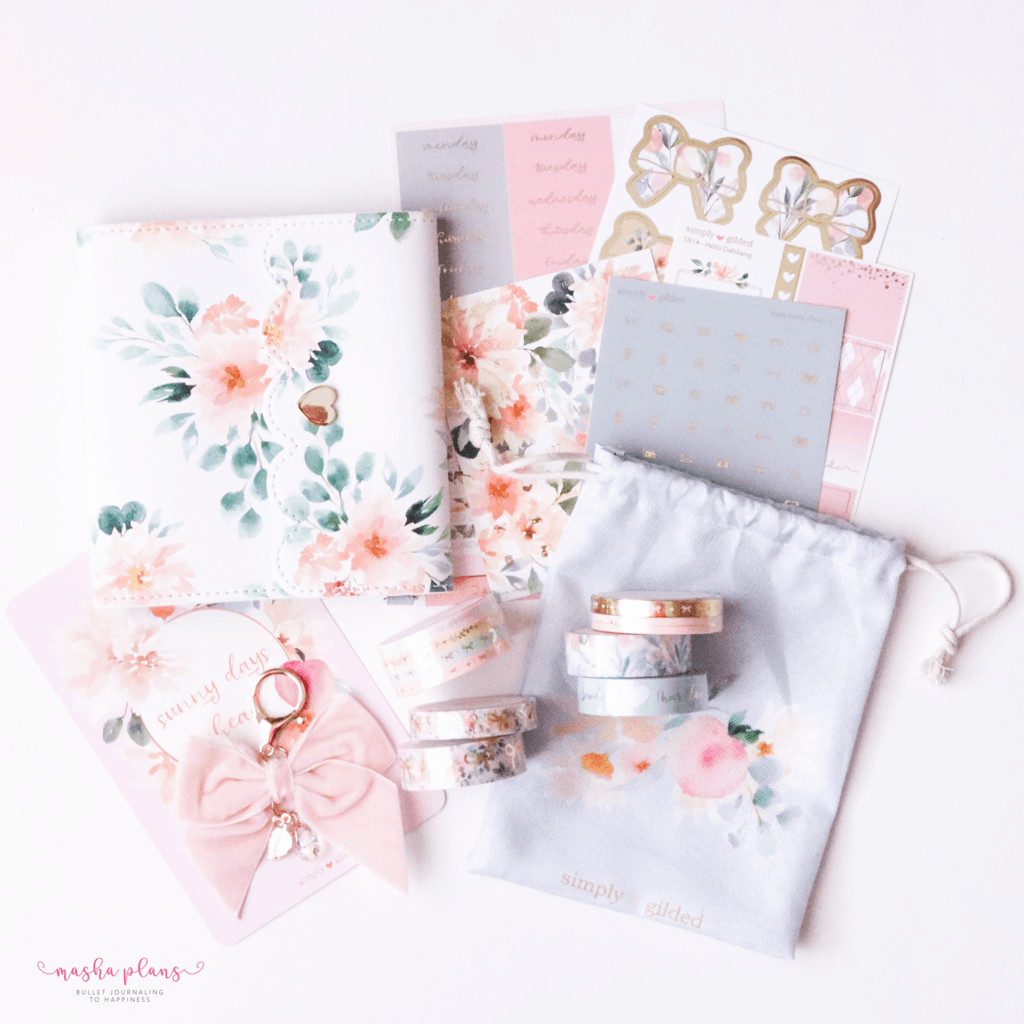 Plan With Me: June Bullet Journal Setup - SImply Gilded May Subscription Box | Masha Plans