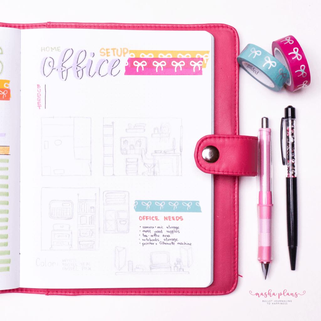 Plan With Me: June Bullet Journal Setup - office decor | Masha Plans