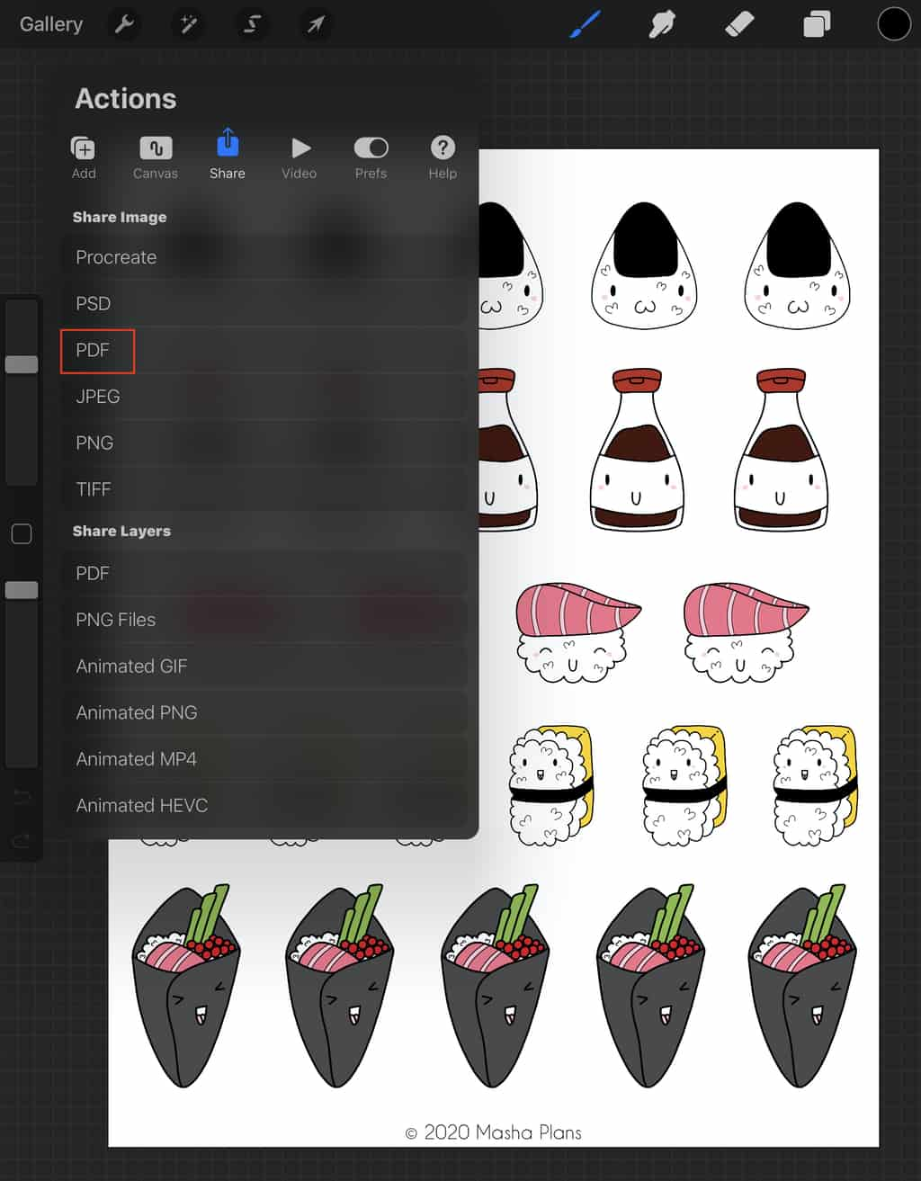 How To Design Stickers In Procreate | Masha Plans