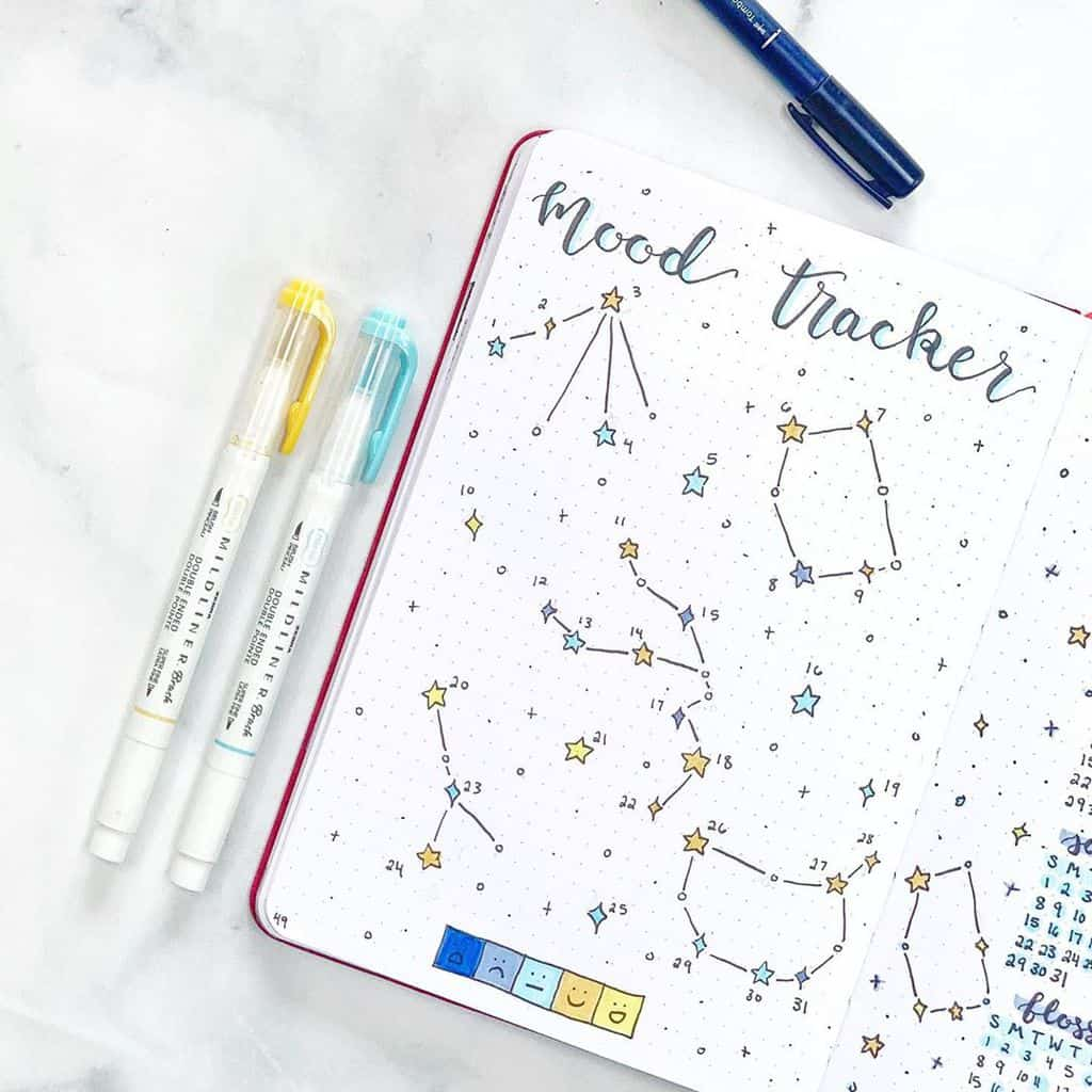 Mood Tracker by @abulletjournaladay | Masha Plans