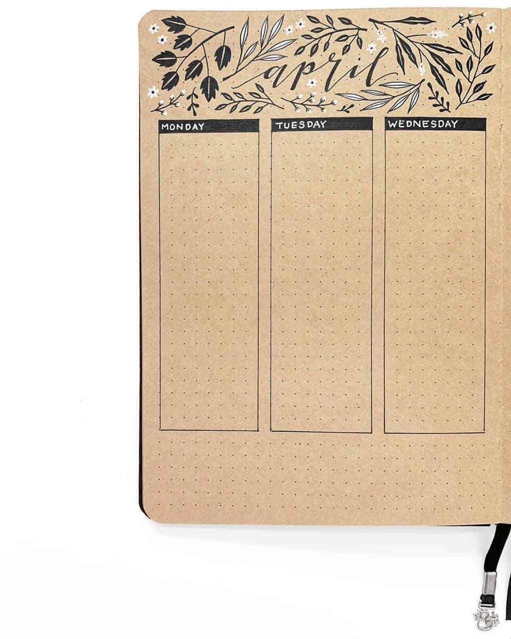 Kraft Paper Journal Spread by @archerandolive | Masha Plans