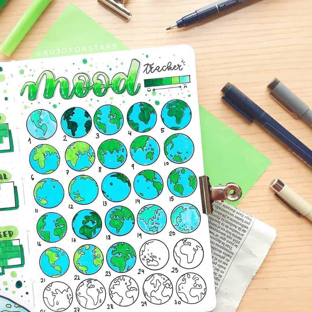 Mood Tracker by @bujoforstars | Masha Plans
