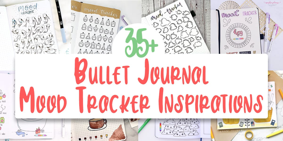 35+ Fun and Creative Bullet Journal Mood Trackers and How To Use Them | Masha Plans