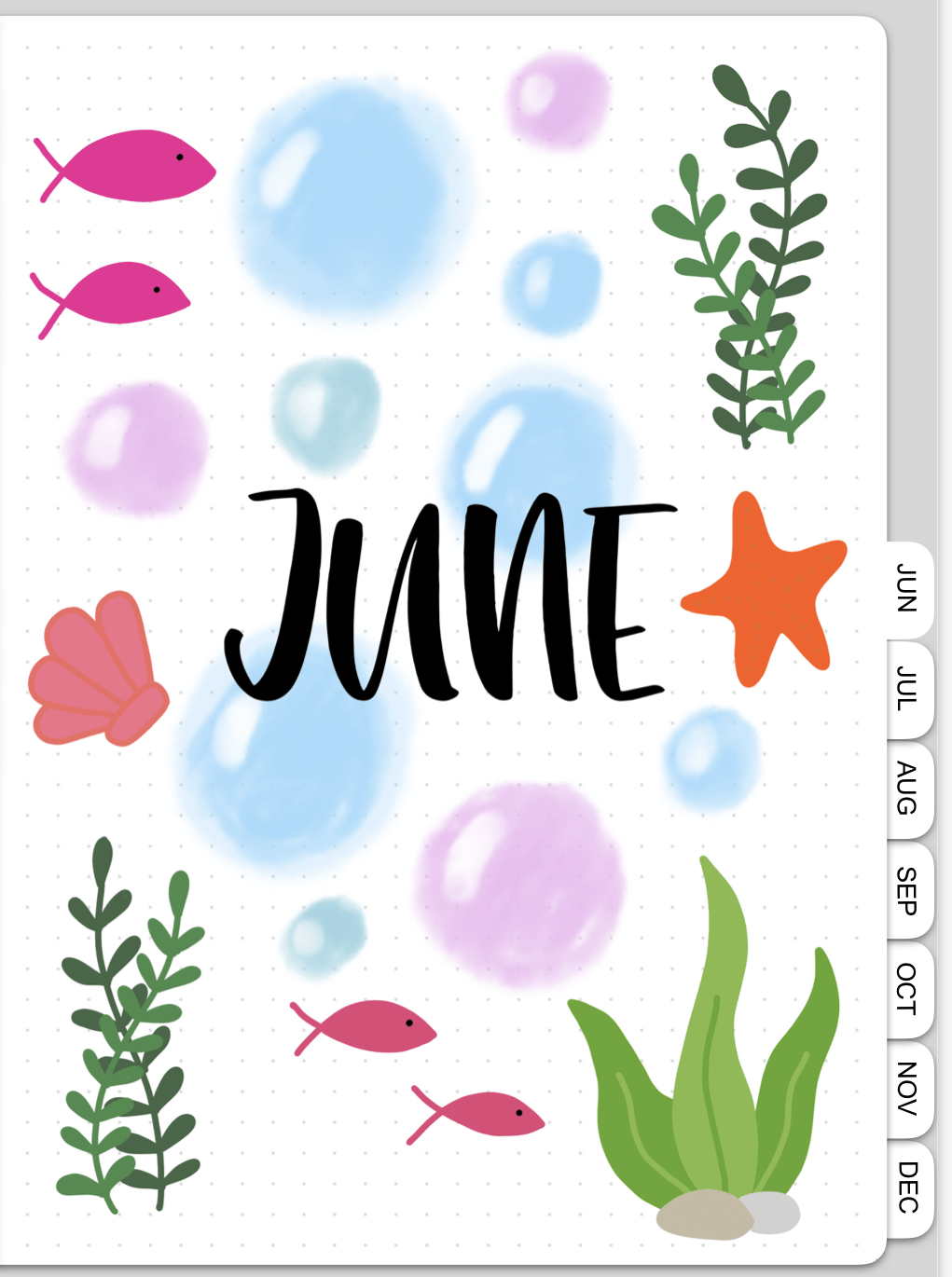 Digital Bullet Journal Plan With Me - cover page | Masha Plans