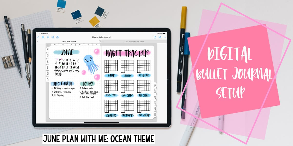 June In My Digital Planner: Plan With Me | Masha Plans