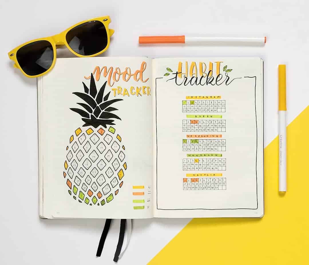 Bullet Journal Mood Tracker by @dutch_dots | Masha Plans
