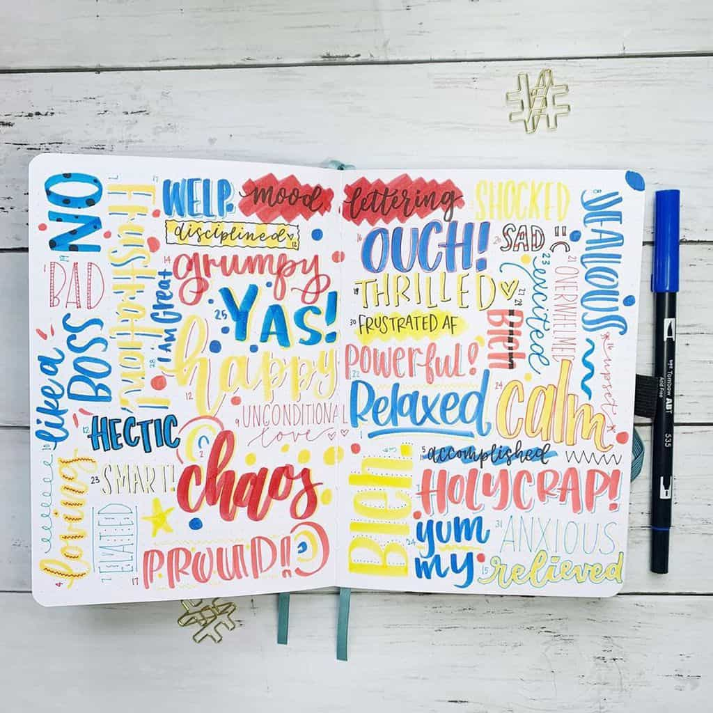 Bullet Journal Mood Tracker by @erinflotodesigns | Masha Plans