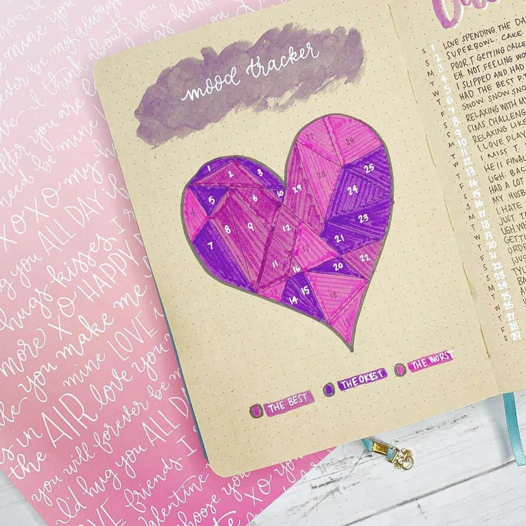 Kraft Paper Journal Spread by @erinflotodesigns | Masha Plans